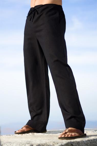 Black Linen Riviera Pant