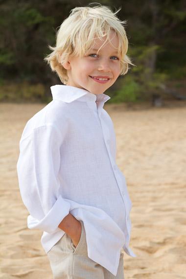 Boy's Linen Amalfi Shirt (LS)