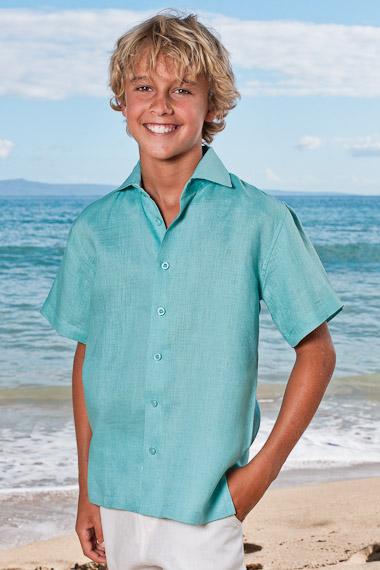 Boy's Linen Amalfi shirt (SS)