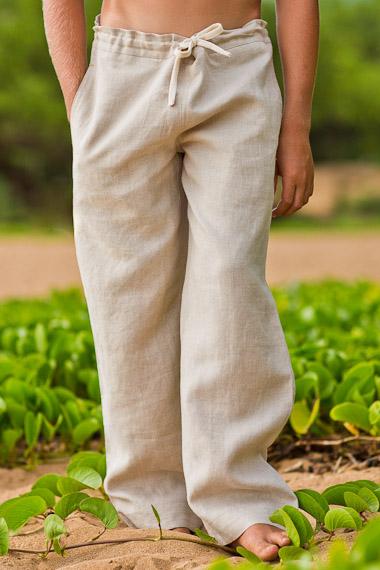 Boy's Linen Riviera Pant