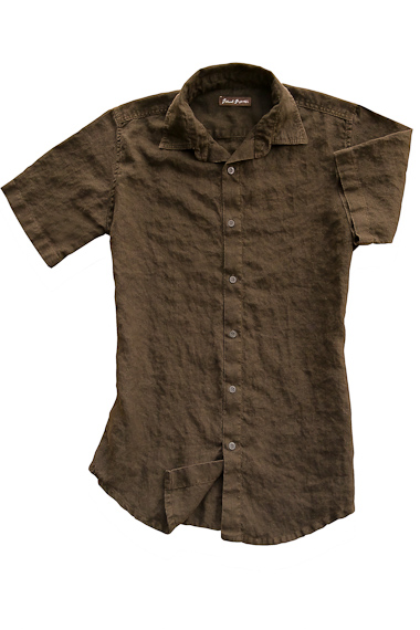 Carob Linen Earth Shirt