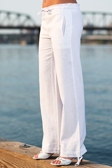Drawstring Linen Surf Pant