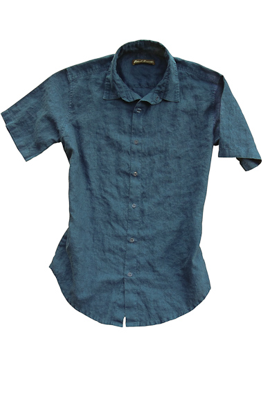 Indigo Linen Earth Shirt