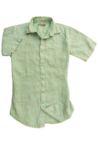 Men's Linen Short Sleeve Earth Turquoise Shirt